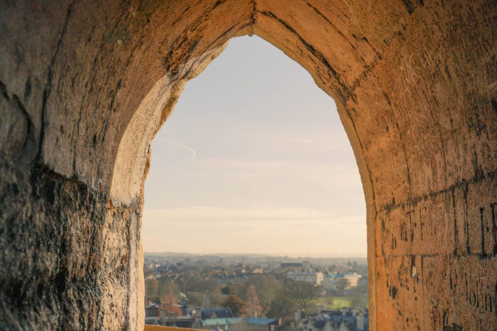 View from St Marys Bell Tower Oxford-87